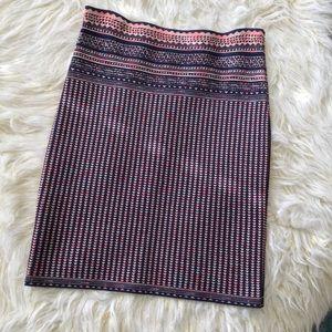 BCBGMaxAzria Patel Knit Jacquard Print Skirt